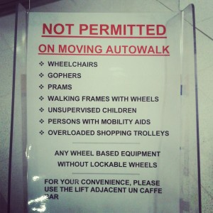 No Gophers on the Autowalk